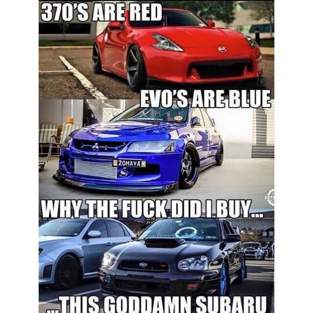 I'm sorry i love subarus