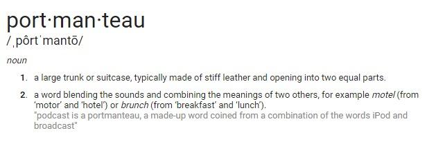 Portmanteau meaning