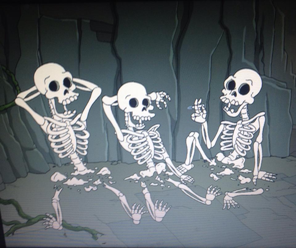 скелеты на отдыхе картинки помощи
