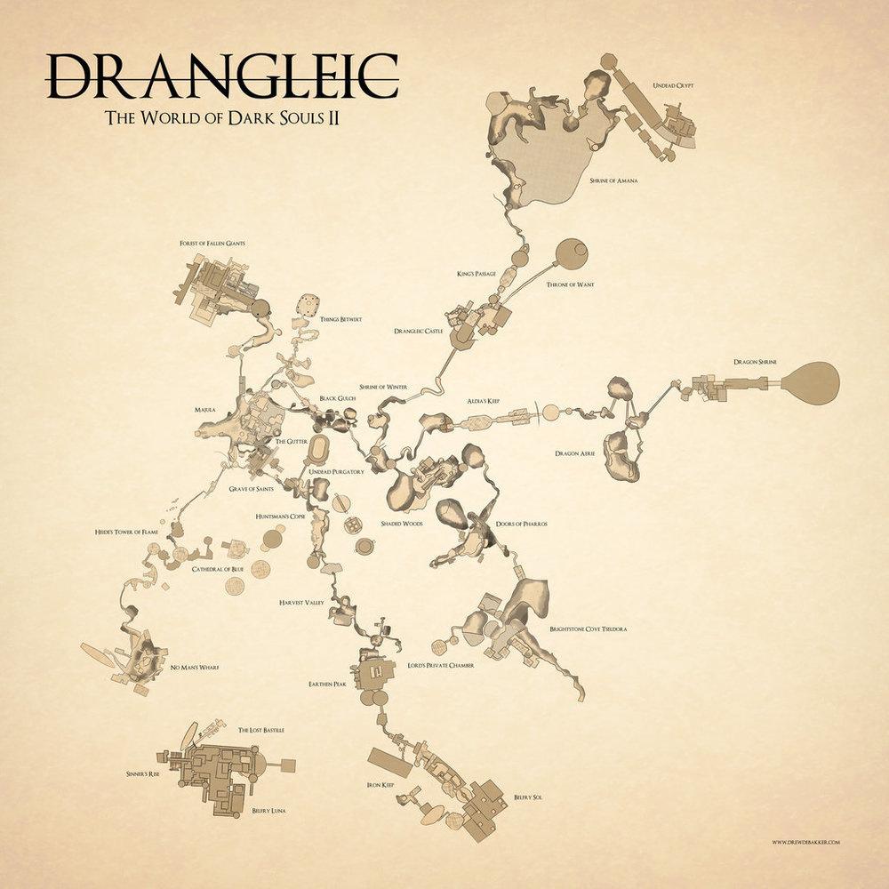 Dark Souls Map on