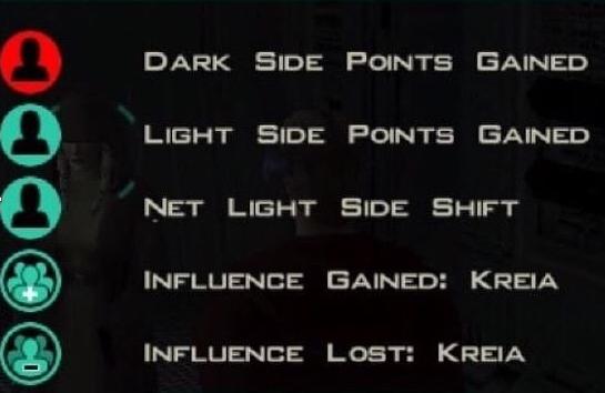 Star wars kotor 2 kreia influence